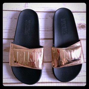 victoria's secret pink rose gold sandals 9